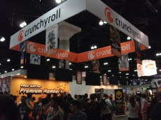 Crunchyroll's booth sans the live stage which was poorly placed in West Hall